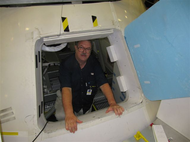 Entry hatch to Orion trainer